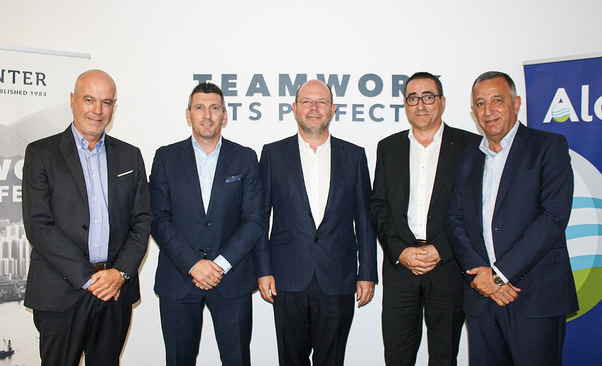 José Ruiz (Valencia), José Manuel Montilla (Andalusia), Jorge Alonso (President and CEO of Grupo Alonso), Carlos Pulido (Barcelona) and Pedro López, CEO of Operinter Holding.