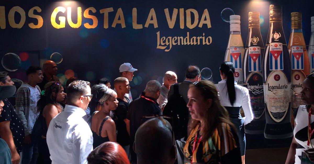 Estand de Legendario en la FIHAV 2018 de Cuba.