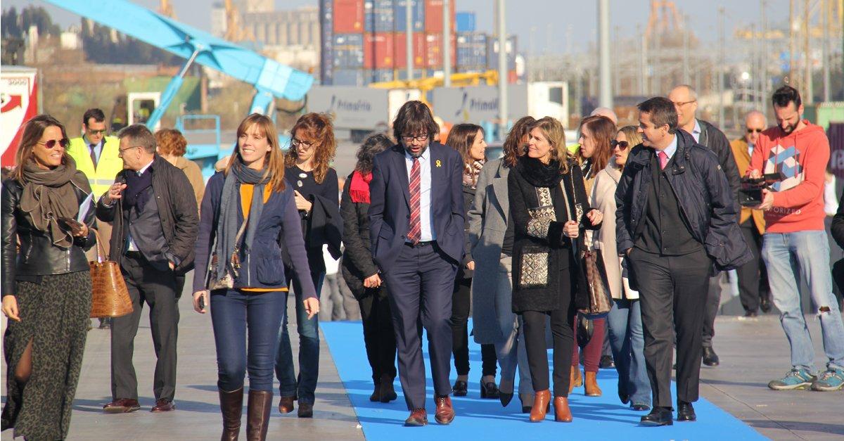 La inauguración de la línea férrea de VIIA despertó gran interés entre los asistentes