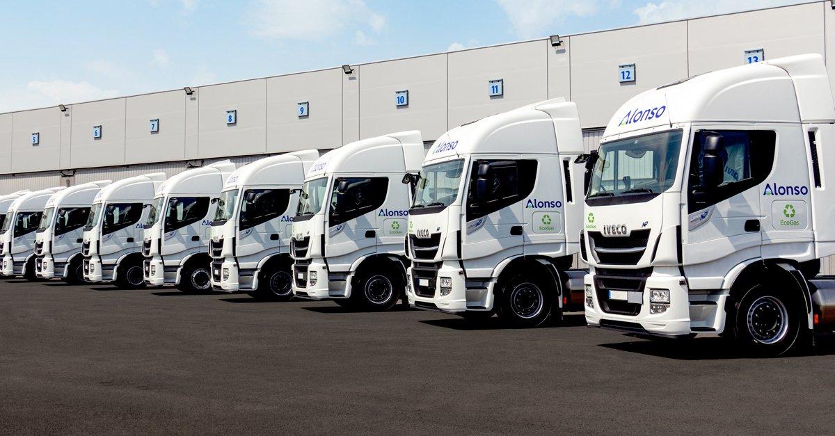 El 17% de los vehículos de la división de transporte por carretera de Grupo Alonso ya son de gas natural.