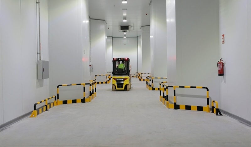 Interior of the refrigerated warehouse of SAM Algeciras