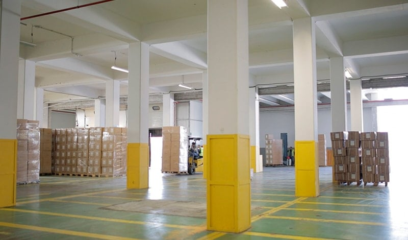 Interior of the dry goods warehouse of SAM Algeciras.