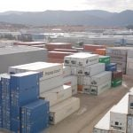 View of the container depot of SAM Algeciras.