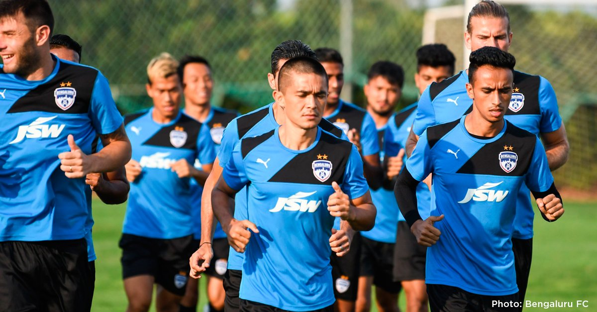 Bengaluru FC from India at Soccer's Masia La Grava facilities.