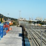 Loading dock in the intermodal logistics platform in Barcelona (Can Tunis).