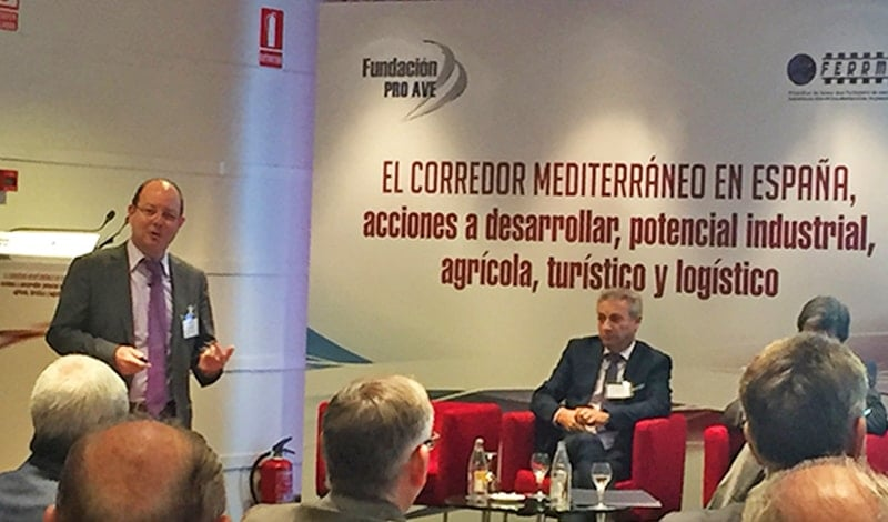 Presentation by Jorge Alonso at the FERRMED conference in Valencia (December 2016).