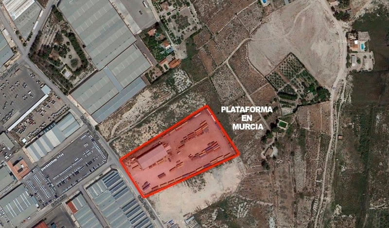Aerial view of Alonso Group facilities in Murcia.