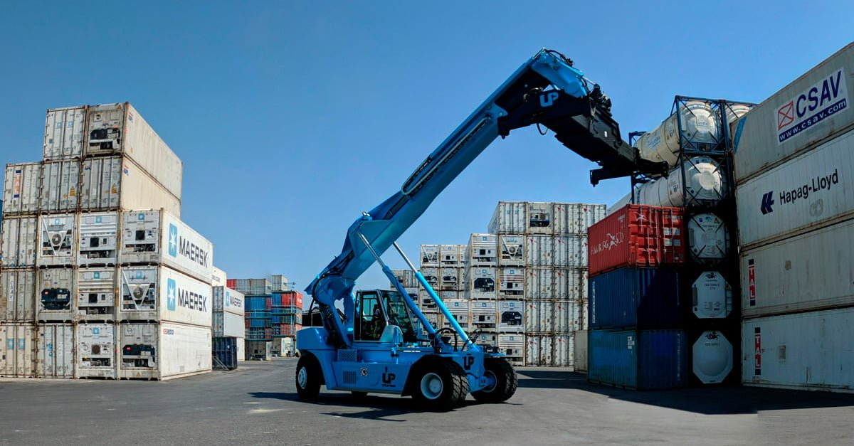 Reach Stacker en Setemar Valencia.