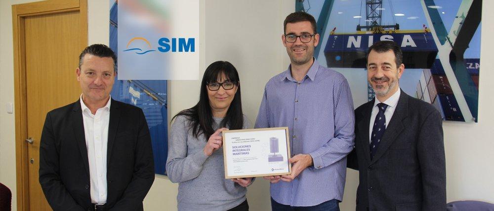 SIM recibe una distinción por su prevención de riesgos laborales.