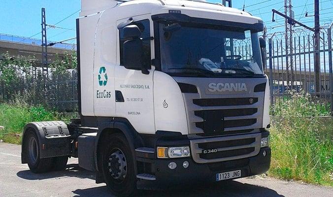 Transportes Alonso Salcedo - Camión a gas