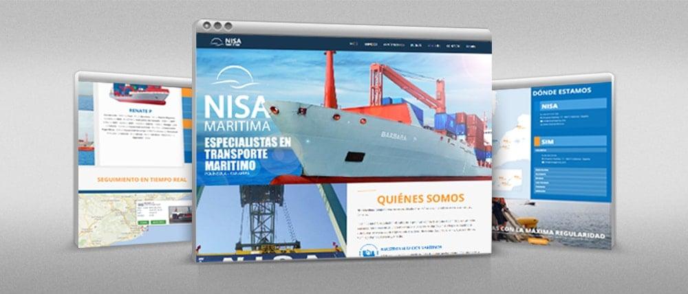 Sitio web de NISA Marítima.