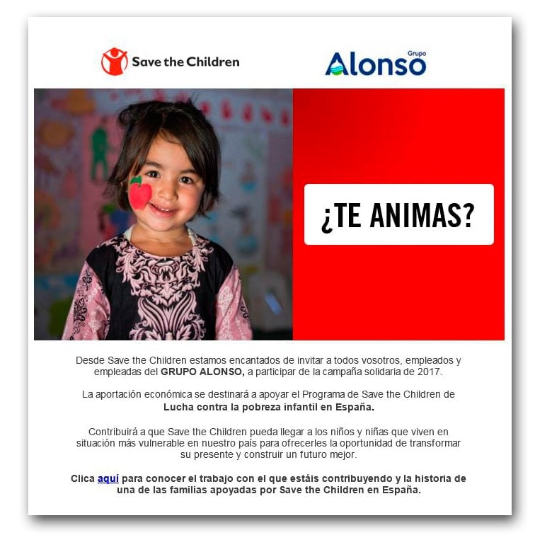Grupo Alonso colabora con Save The Children