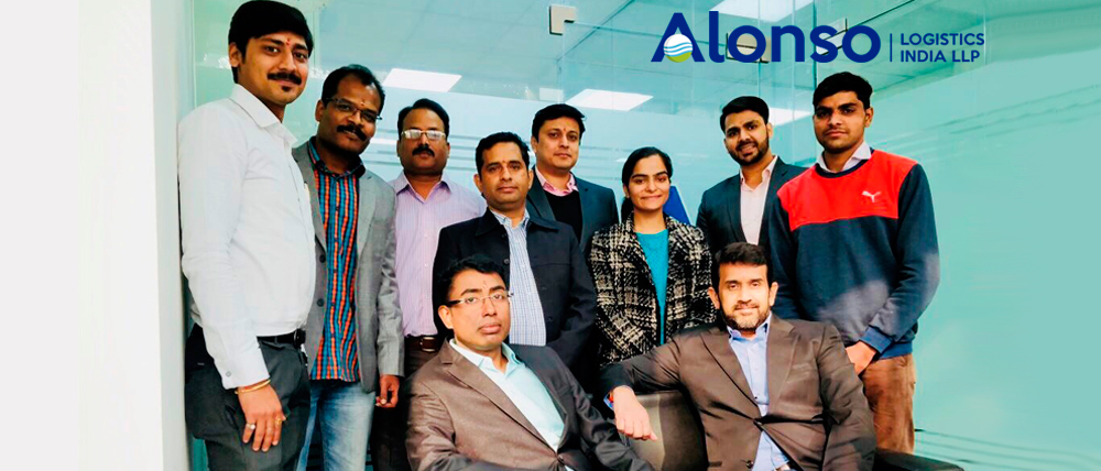 Team of the new office of Alonso Logistics India in New Delhi.