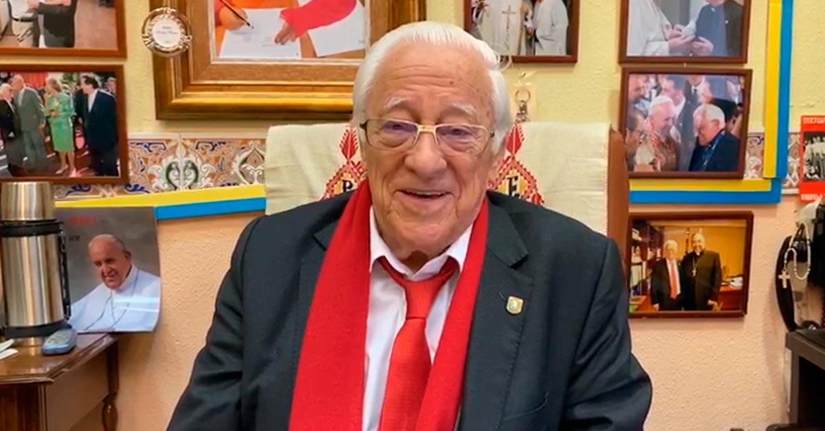 El Padre Ángel fundó Mensajeros de la Paz en 1962