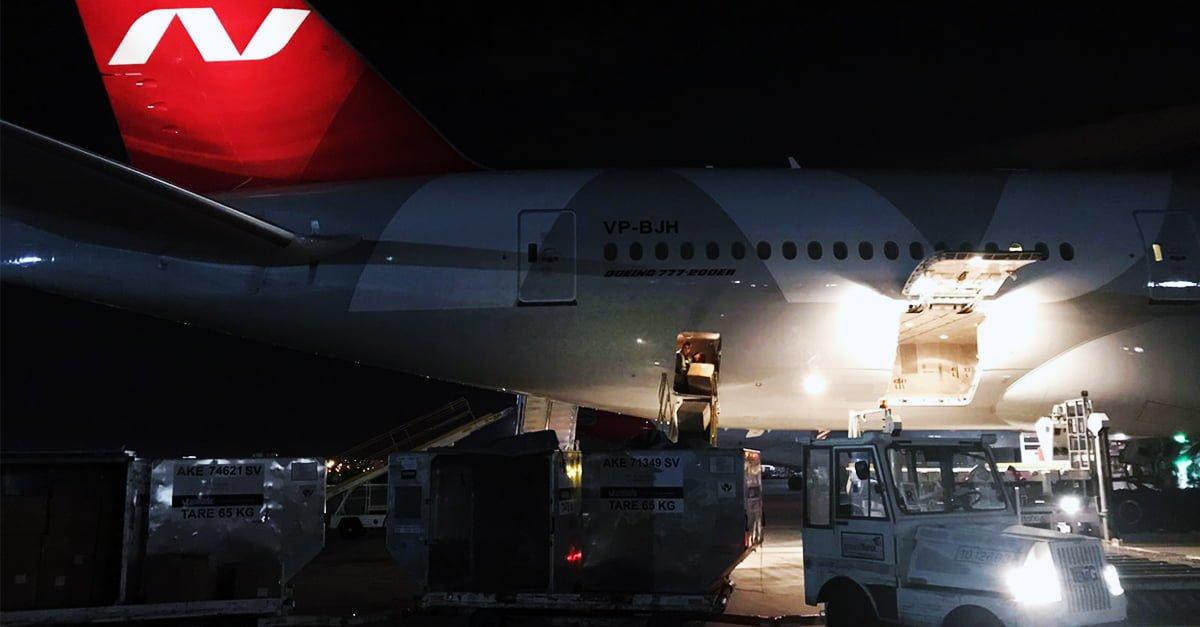 El avión procedente de Guangzhou llegó de madrugada al aeropuerto de Madrid-Barajas.