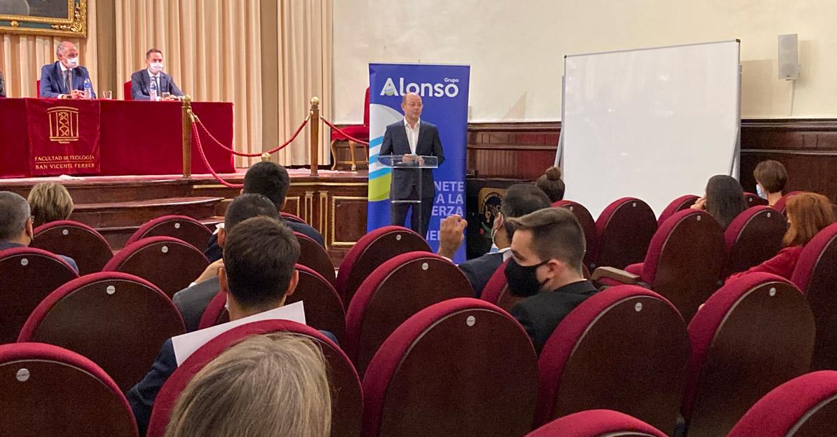 Momento de la intervención de Jorge Alonso, presidente y CEO de Grupo Alonso.
