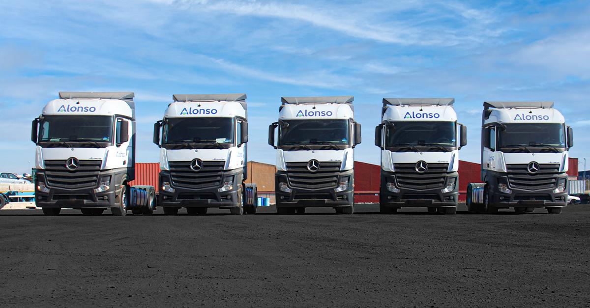 La flota de Alonso destaca por su eficiencia y sostenibilidad.