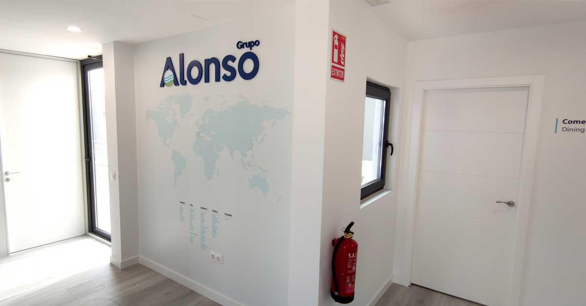 Detalle de parte del edificio corporativo en Molina de Segura, Murcia.