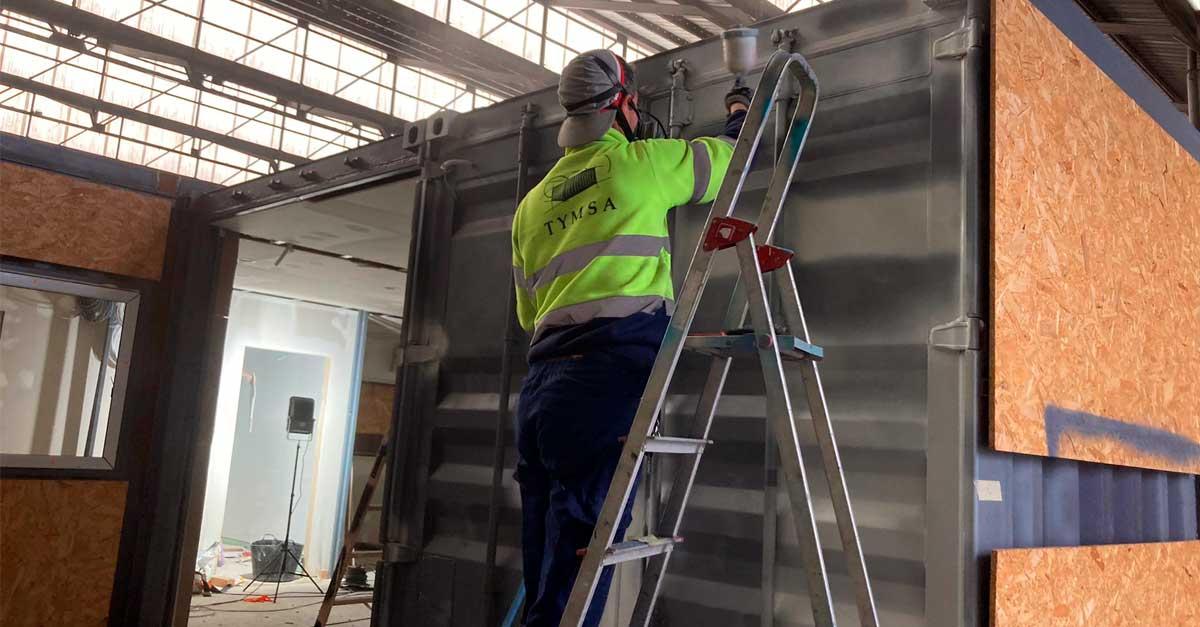 TYMSA llevó a cabo los trabajos de acondicionamiento de los contenedores.
